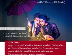 Celebració del Dia Mundial del Teatre 2019